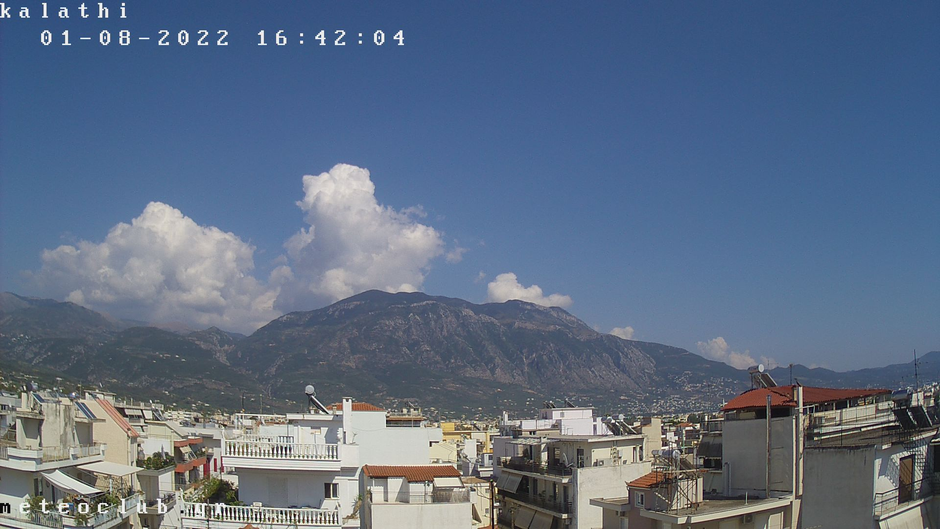 Kalamata – Taygetos Gebirge Webcam Live